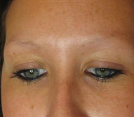 Makeup Tattoo before eyebrow
