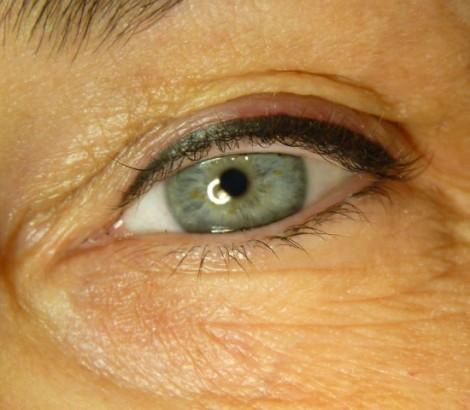 Permanent makeup Kelowna eyeliner results