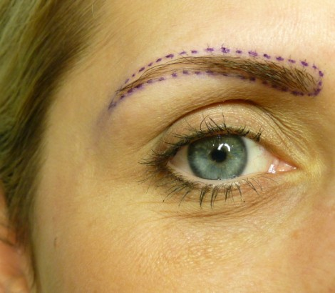 Permanent Makeup Kelowna before eyebrow procedure