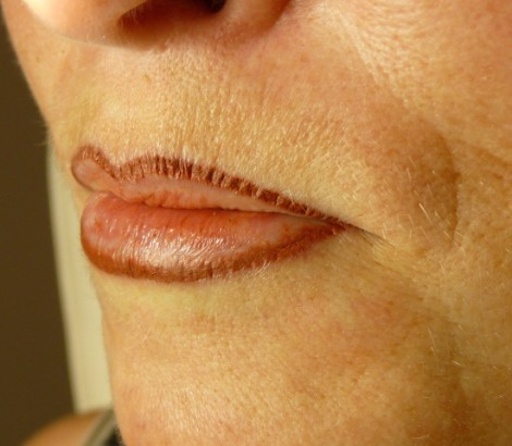 Permanent Makeup, Cosmetic Tattoo immediately after.